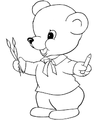 bluebonkers teddy bear coloring sheets coloring bear