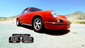 classic porsche carrera watch jay leno and patrick dempsey hoon a classic porsche 911 rs