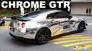 chrome nissan chrome nissan gtr walk around and close up youtube