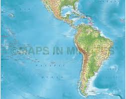Map Americas by Digital Vector North And South America Political Map 10 000 000