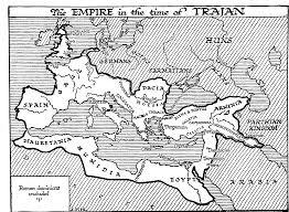 Blank Map Of Roman Empire by Map Of The Roman Empire Under Emperor Trajan Fileroman Empire