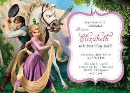 invites you or invite you custom photo invitations rapunzel tangled birthday invitation