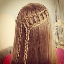 cool hair designs for long hair feather waterfall u0026 ladder braid combo 2 in 1 hairstyles cute