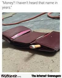 Meme Wallet - funny smoking empty wallet meme pmslweb