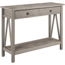 linon titian console table rustic gray walmart com