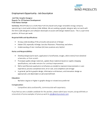 Interior Design Job Duties Graphic Design Job Description Web U0026 Graphic Designer Job