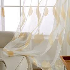 modern stripe sheer curtains gold and gray window curtains for