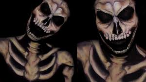 halloween body paint creepy realistic skeleton face body paint youtube
