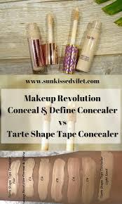 light sand tarte concealer tarte shape tape dupe makeup revolution conceal define