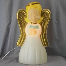 vintage light up angel blow mold christmas decoration 18 general