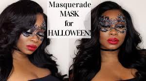masquerade mask halloween makeup tutorial youtube
