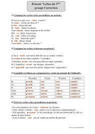 verbe de cuisine présent verbes du groupe exercices corrigés conjugaison