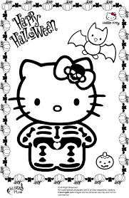 Kids Coloring Pages Halloween by Hello Kitty Halloween Skeleton Coloring Pages Color Sheets