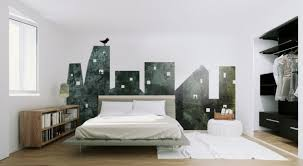 interior simple and minimalist bedroom sweeten by fantastic wall full image for simple and minimalist bedroom sweeten by fantastic wall mural with city building pattern