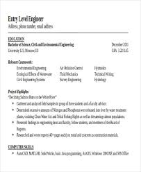 Environmental Engineer Resume 26 Generic Engineering Resume Templates Free U0026 Premium Templates