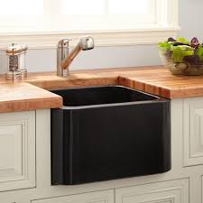 Polished Granite Farmhouse Prep Sink Black Kitchen - Kitchen prep sinks