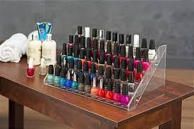 nail polish stand stair design countertop manicure bottle organizer