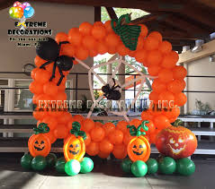 halloween pumpkin balloon backdrop spider balloons harvest