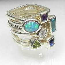 family rings for all mixed up sterling silver stack ring set by karthia ohoh