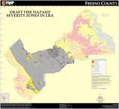 map of fresno cal fresno county fhsz map