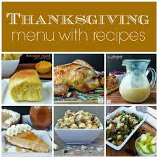 thanksgiving traditional thanksgiving menu and recipes