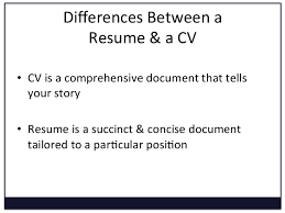 Succinct Resume Converting A Cv To A Resume