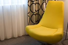free image of stylish yellow bucket chair