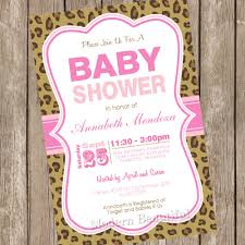 custom leopard baby shower invitations baby shower decoration