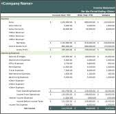Income Statement Excel Template Yearly Income Statement Template