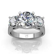 brilliant diamond rings images 14kt white gold three stone quot x quot round brilliant diamond ring jpg