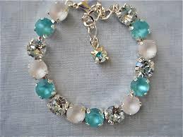 blue crystal bracelet swarovski images Swarovski crystal tiffany blue bridesmaid tennis bracelet aqua jpg