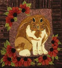 Wool Hand Hooked Rugs 112 Best Hooked Rugs Hares Images On Pinterest Penny Rugs