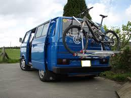 volkswagen vanagon blue vw t25 t3 vanagon bike rack with uprated gas struts