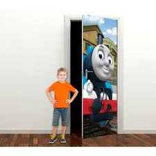 pro art thomas friends full wall mural childsmart pro art day out with thomas door mural