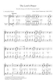 pyotr il u0027yich tchaikovsky the lord u0027s prayer sheet music at
