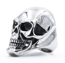 rock star rings images Large polished steel skull ring ss biker rock star rings jpg