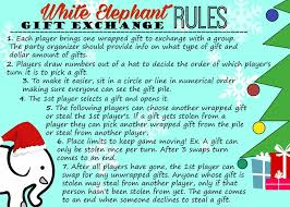 fun white elephant gift exchange poem christmas best elephant 2017