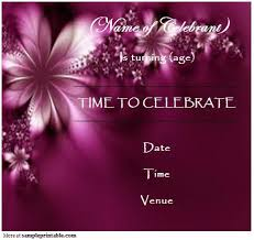 40th birthday ideas birthday invitations templates free online