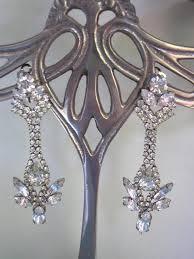 rositas earrings bridal earrings vintage wedding jewelry clip on earrings