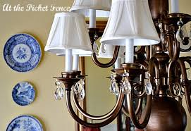 Repurposing Old Chandeliers Brass Chandelier S Makeover At The Picket Fence