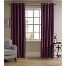 Plum Velvet Curtains Eyelet Curtains Ready Made Curtains Wilko