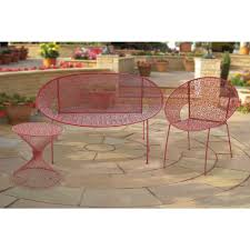 Pink Accent Table Hampton Bay Nantucket Metal Outdoor Accent Table 3903000 0805157