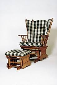 West Elm Ryder Rocking Chair Vintage Tell City Glider Rocker Chair With Original Cushions And