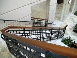 commercial railing decorative deco glass handicap fdot