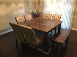 Rustic Dining Tables With Benches Dining Table Farm Dining Table Rustic Farmhouse Dining Table With
