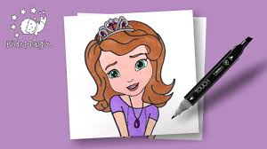 drawing and coloring sofia the first disney princess coloring