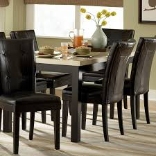 leather dining room sets furniture inspiring black leather dining chairs sturdy black