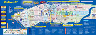 tourist map of new york map of nyc tourist attractions sightseeing tourist tour