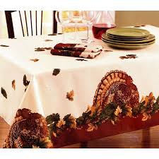 harvest turkey fabric tablecloth thanksgiving table cloth