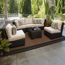 Wicker Patio Conversation Sets Dark Brown Wicker Outdoor Furniture Home Decorating Interior